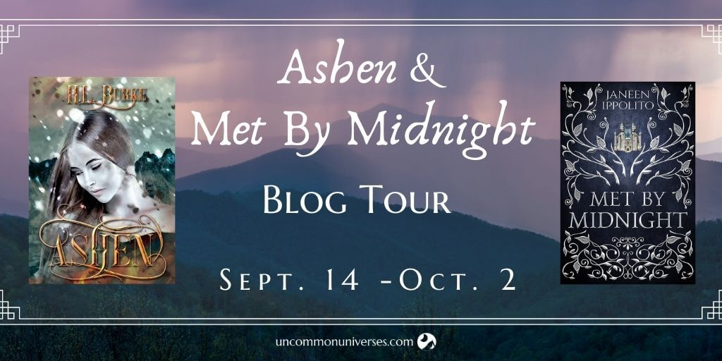 Ashen and Met By Midnight Blog Tour Banner provided by Uncommon Universes Press and is used with permission.