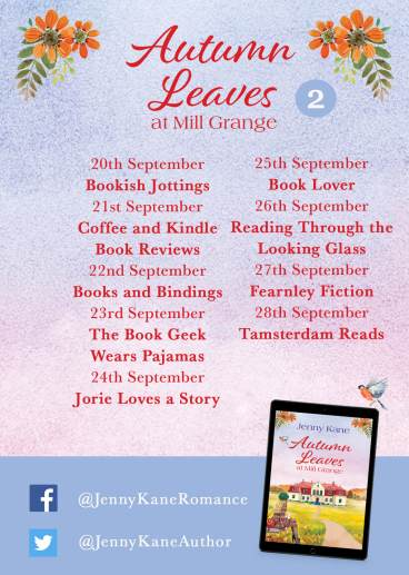 Autumn Leaves at Mill Grange tour poster two provided by Head of Zeus and is used with permission.
