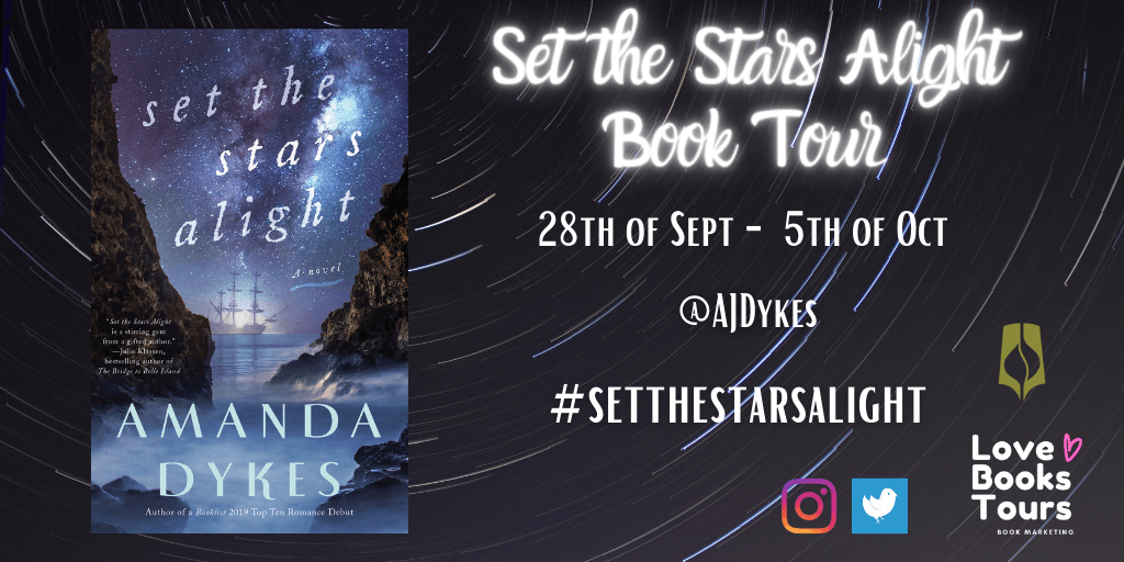 Set the Stars Alight blog tour banner provided by Love Books Tours and is used with permission.
