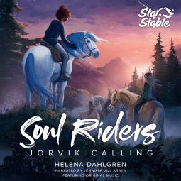 "A #SpooktasticReads audiobook review | ""Jorvik Calling"" (Soul Riders: Book One) by Helena Dahlgren, narrated by Jennifer Jill Araya; courtesy of #NetGalley"