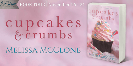 Cupcakes and Crumbs blog tour banner provided by Prism Book Tours and is used with permission.