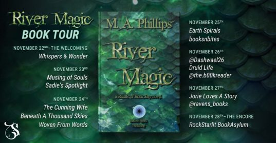 River Magic blog tour route banner provided by Storytellers on Tour and is used with permission.