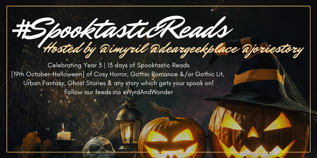 #SpooktasticReads banner created by Jorie in Canva.