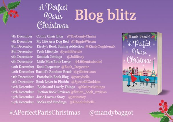 A Perfect Paris Christmas blog tour badge provided by Head of Zeus and is used with permission.