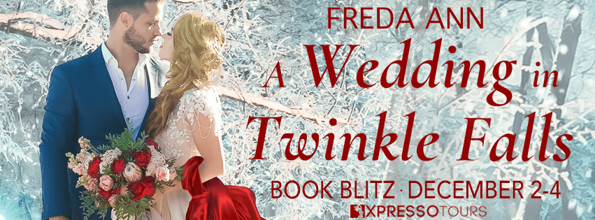 A Wedding in Twinkle Falls blog tour banner provided by Xpresso Book Tours and is used with permission.
