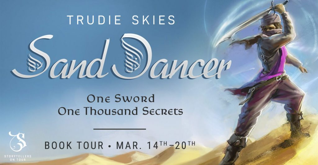 Sand Dancer blog tour banner provided by Storytellers on Tour and is used with permission.