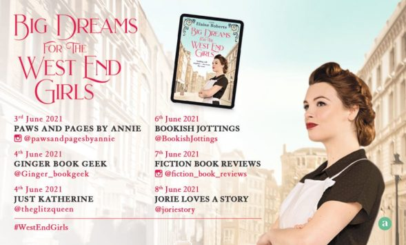 Big Dreams for the West End Girls blog tour banner provided by Head of Zeus and is used with permission.
