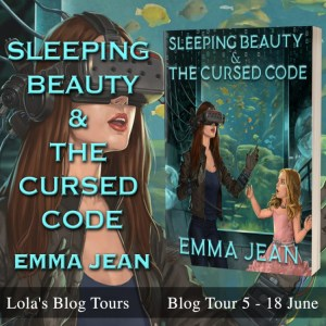 Sleeping Beauty and the Cursed Code blog tour badge provided by Lola's Blog Tours and is used with permission.