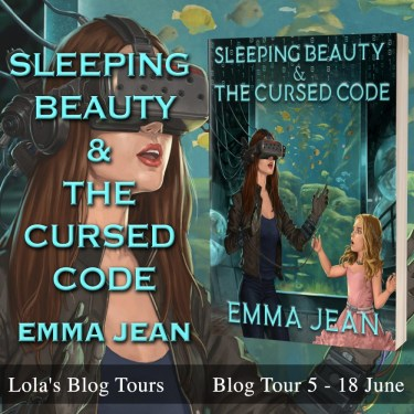 Sleeping Beauty and the Cursed Code blog tour banner provided by Lola's Blog Tours and is used with permission.