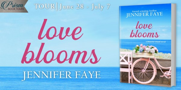 Love Blooms blog tour banner provided by Prism Book Tours and is used with permission.