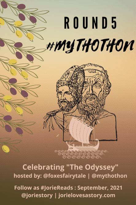 #Mythothon banner created by Jorie in Canva.