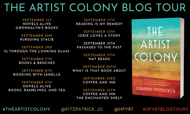 The Artist Colony blog tour banner provided by HFVBTs and is used with permission.
