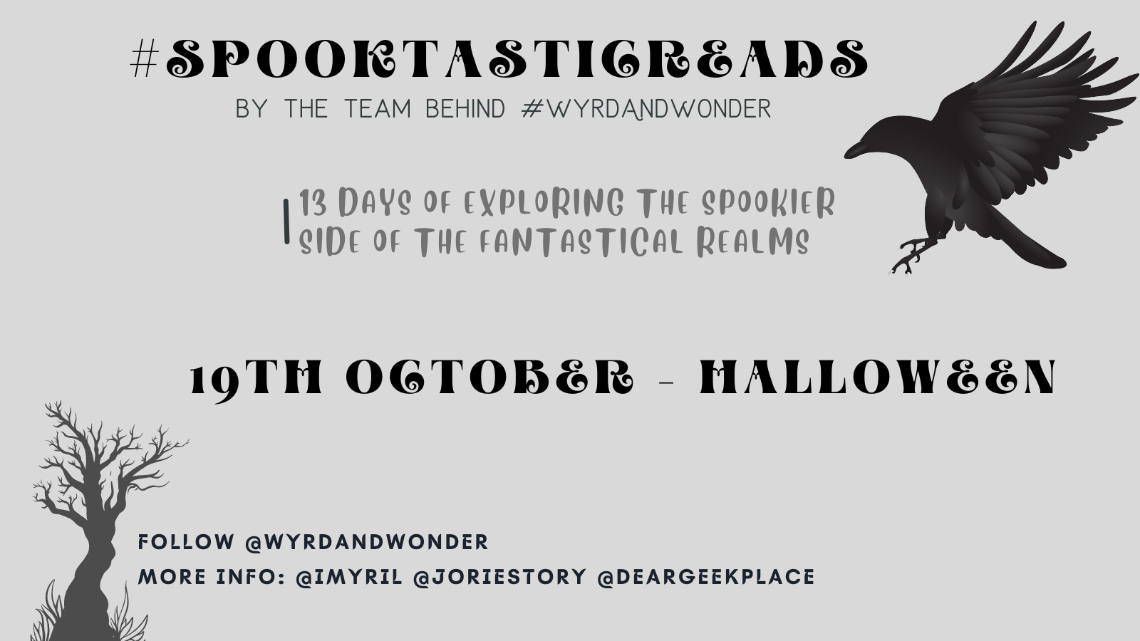 #SpooktasticReads 2021 banner created by Jorie in Canva.