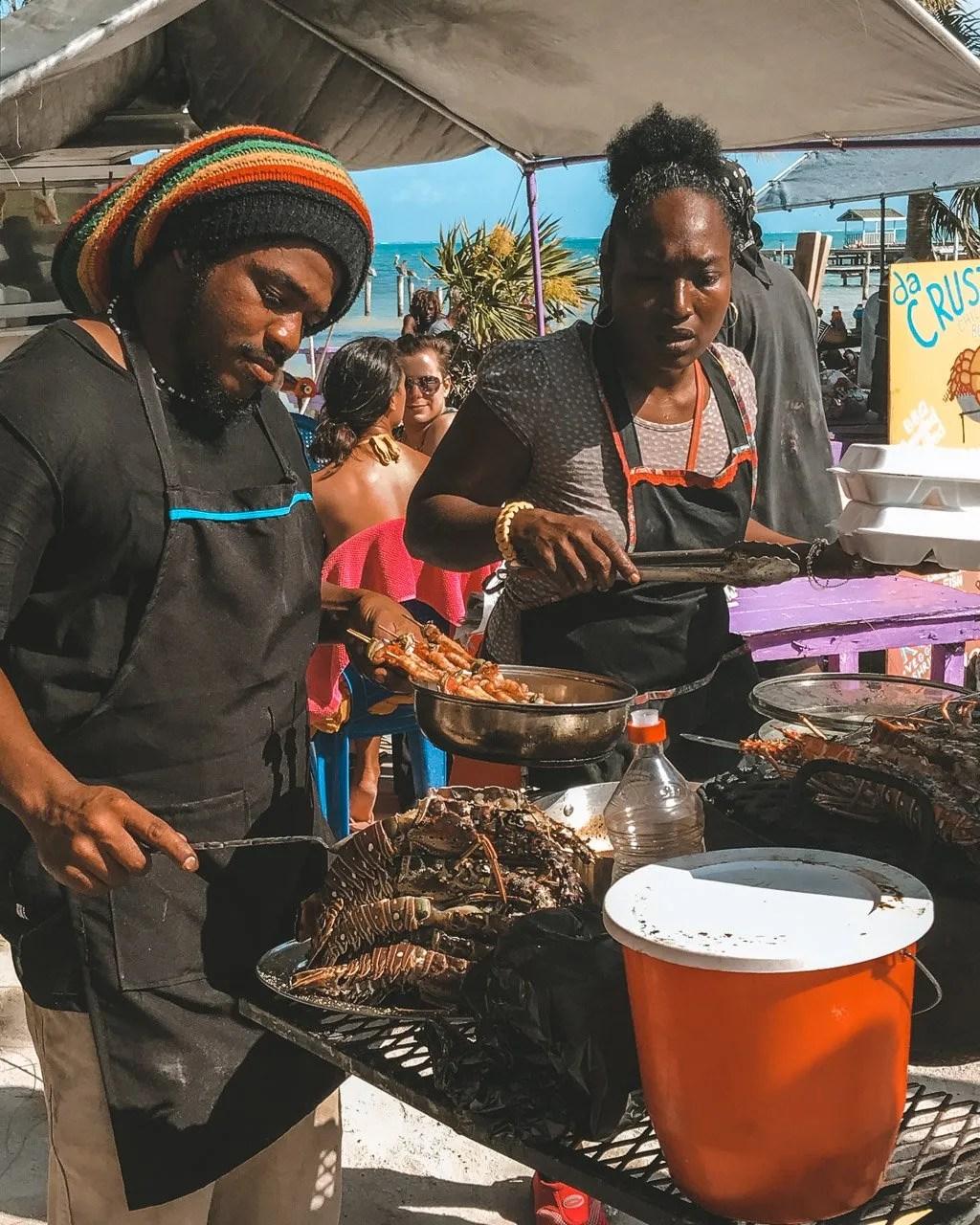 Caye Caulker, Belize, Cayo Caulker, Lobster, Central America travel
