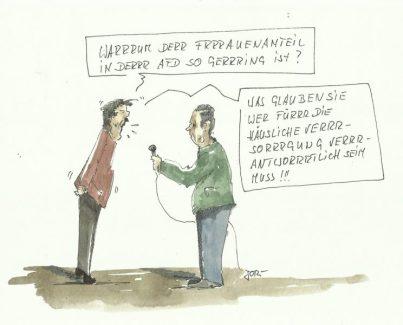 Lt. AfD: Der Frauenanteil...