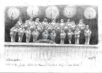 Bühnenbild Chorus (Bleistift)