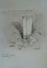 Warnemünde Strand (Bleistift)