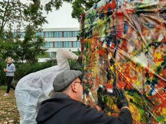 Installation im öffentlichen Raum: Denk Mal! für Integration und starke Nachbarschaften