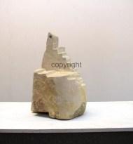 Skulptur, Titel: Erkenntnis und Aussicht, Sandstein, Maße: ca. 32 x 18 x 22 cm