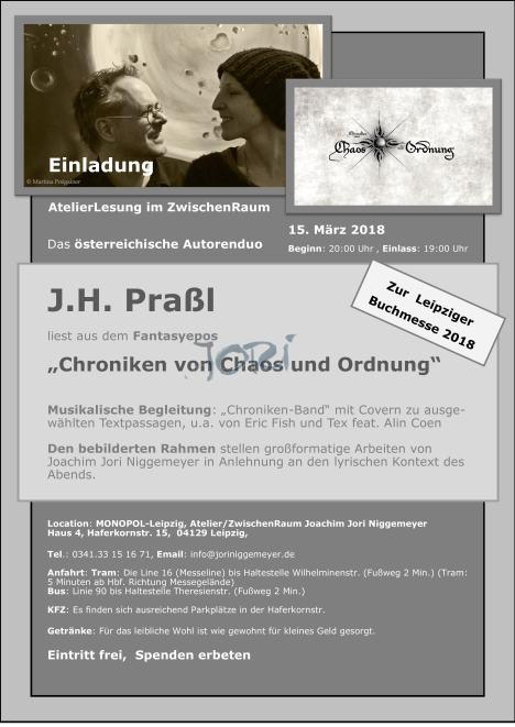 Plakat Lesung J.H.Praßl