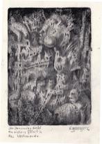 Monotypie, 14 x 10 cm