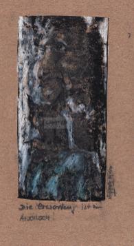 Monotypie, 17 x 9 cm