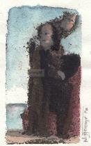 Monotypie, 9 x 6 cm