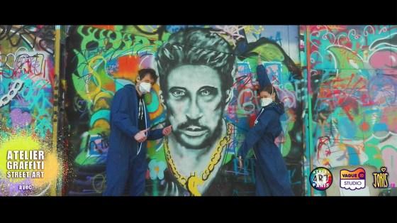 cours-graffiti-street-art-atelier-paris-hommage-johnny-halyday-portrait