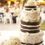 chocolate naked cake and textured toss bouquet - Jessica Ormond Events - Coral Lee Carlson Photography. Lubbock Texas boutique wedding florist.
