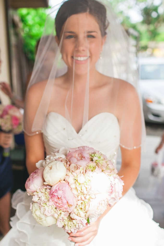 classic bridal bouquet of pink hydrangeas and garden roses - Jessica Ormond Events - Hurtienne Photography