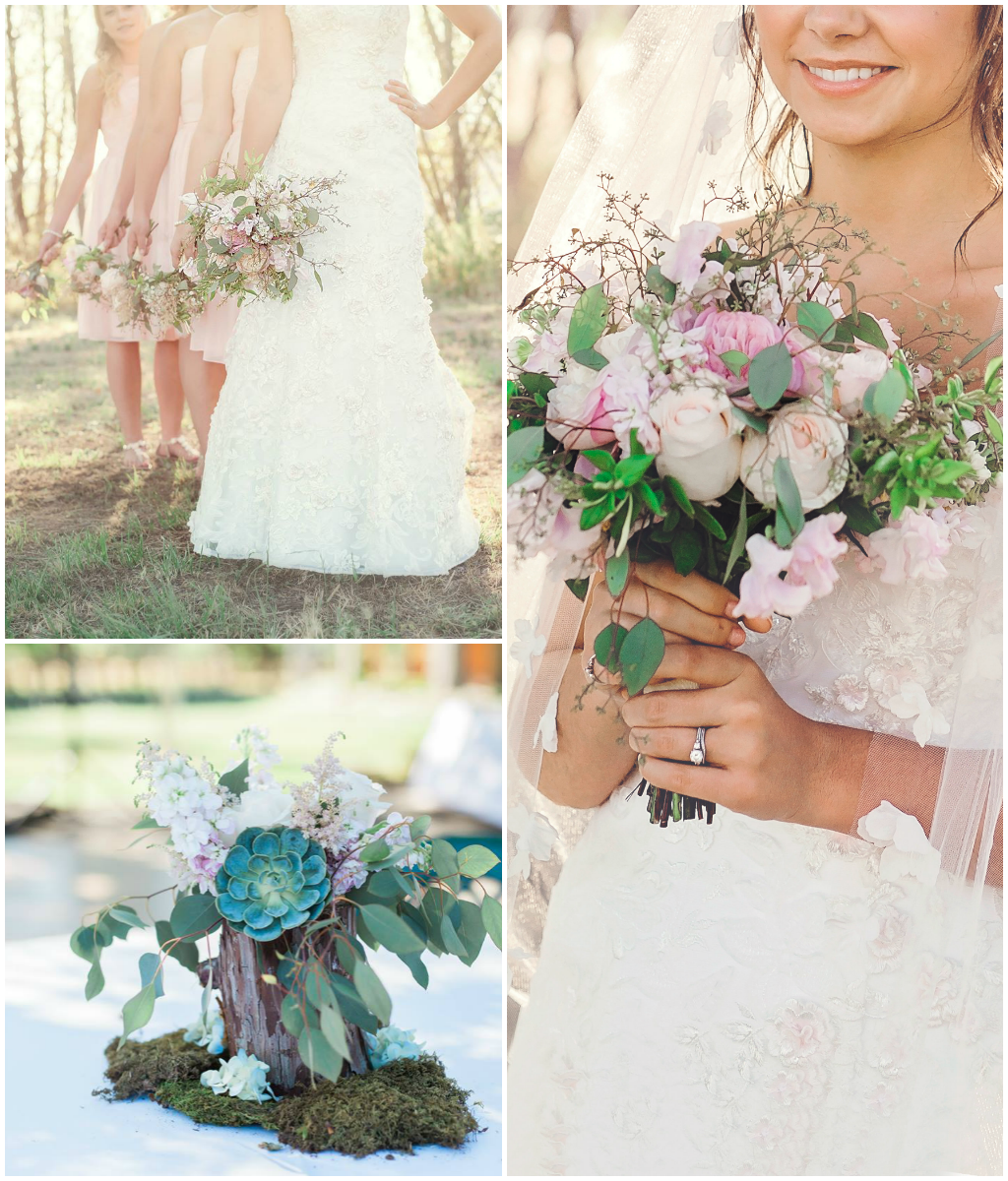 Whimsical and wild pink rose bouquets. Florals by Jessica Ormond Events. Photography by Suzy