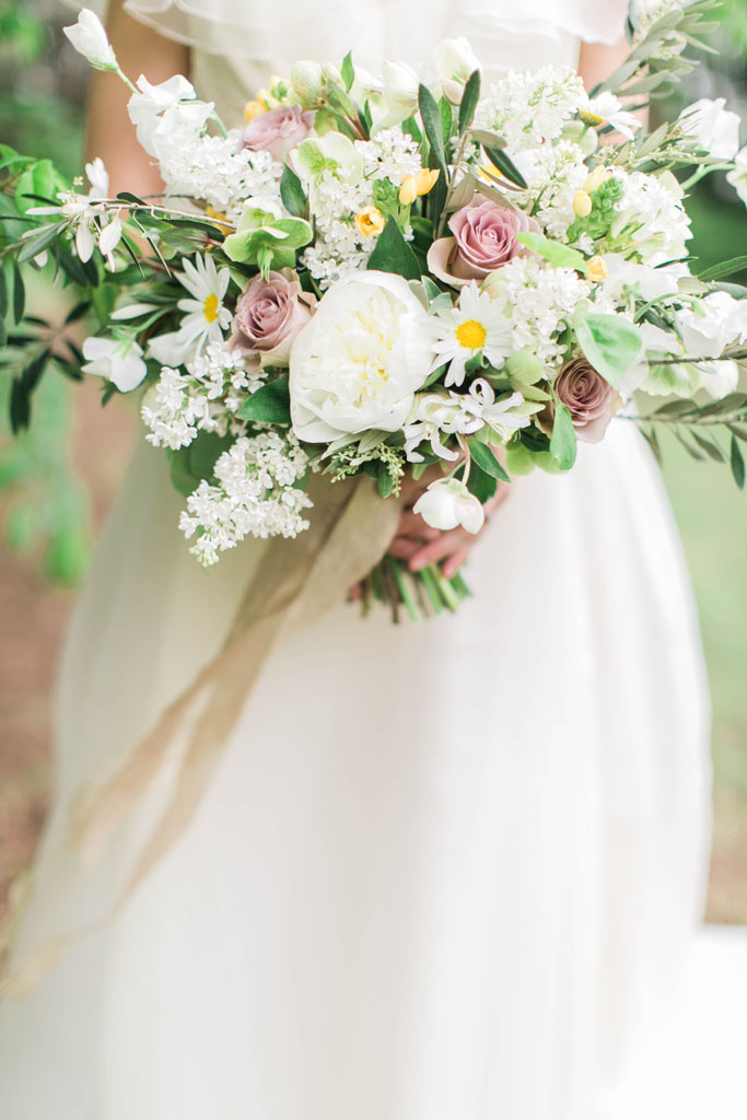 Wild romantic bouquet. Flowers and styling Jessica Ormond Events. Photography Emily Koontz.
