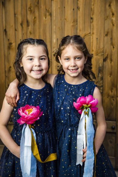 Peony flower girl wands designed by Texas florist, Jessica Ormond Events. Caitlin & Ryan Photography.