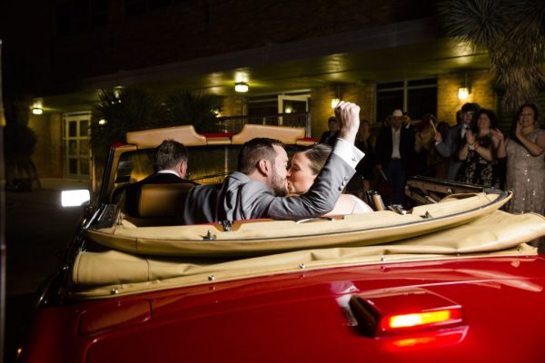 Bride and Groom send off in Rolls Royce at McPherson's Cellars. Wedding Planner Jessica Ormond Events. Caitlin & Ryan Photography.