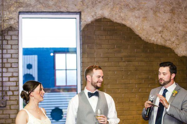 Best Man's Speech at southwestern wedding. Caitlin & Ryan Photography.