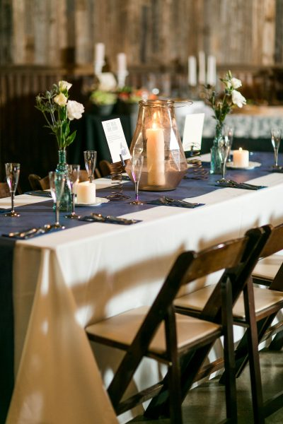 Vintage and rustic reception details. Lubbock wedding florist Jessica Ormond Events and photographer Allee J.