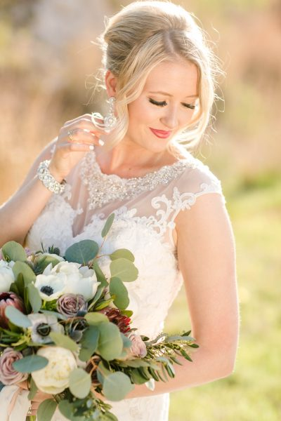 West Texas Bridal Portraits by Allee J. Bouquet designed by Jessica Ormond Events.