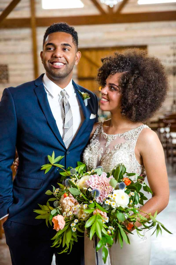 Glamorous bride and groom at Eberley Brooks Events in Lubbock, Texas. Caitlin and Ryan Photography. Jessica Ormond Events.