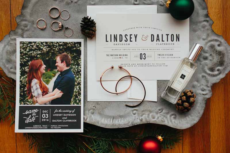 Winter wedding details. Historic Watson Building. Texas wedding photographer Photo by Betsy. Jessica Ormond Events, wedding planner.