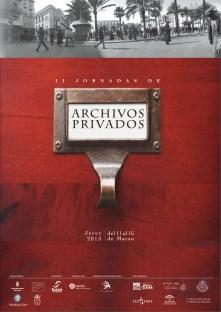 Cartel II Jornadas de Archivos Privados