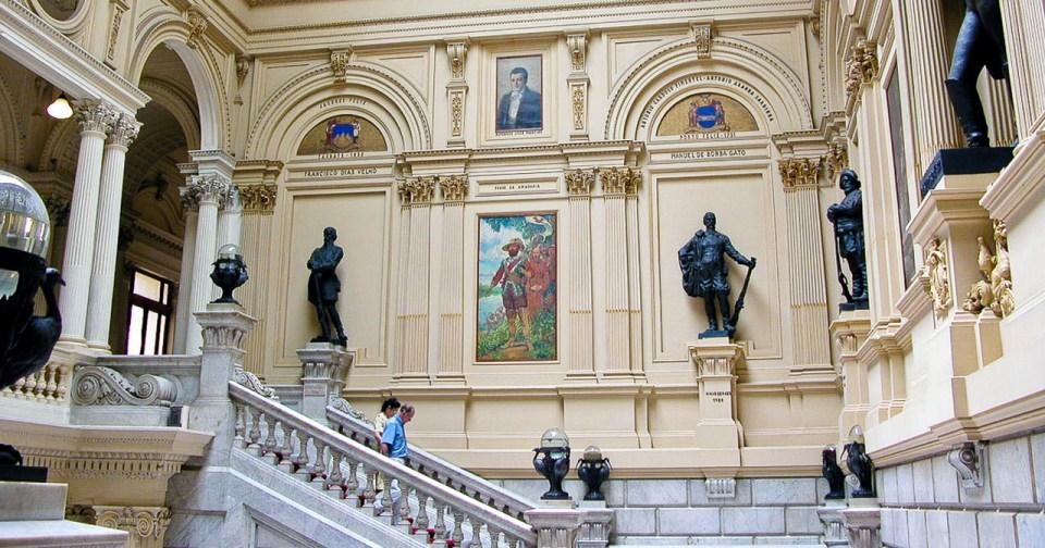 Saguão do Museu Paulista - Foto: Cecília Bastos / USP Imagens