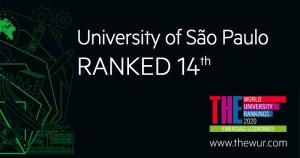 USP é a 14ª melhor universidade em ranking de países emergentes