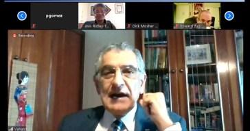 Reitor da USP, Vahan Agopyan, por videoconferência - Foto: Adriana Cruz