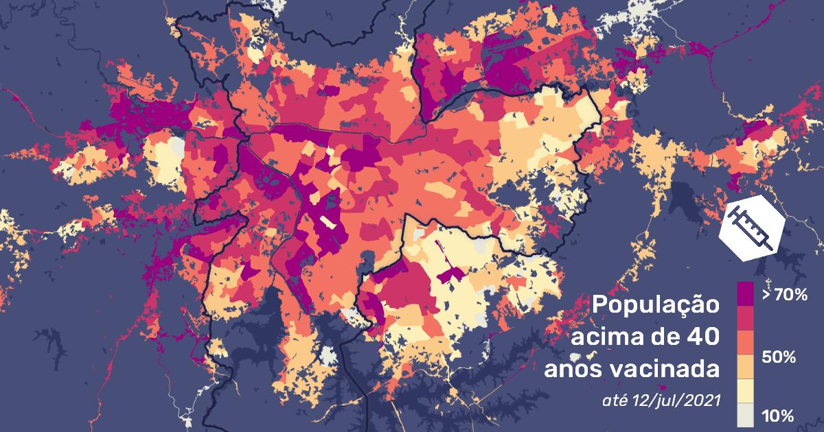 Territórios populares e periféricos têm um percentual de vacinação muito baixo em comparação com bairros ricos e centrais - Foto: LabCidade