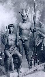 Homens Xokleng em foto posada