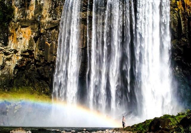 cachoeira do rio dos pardos em Porto União/SC
