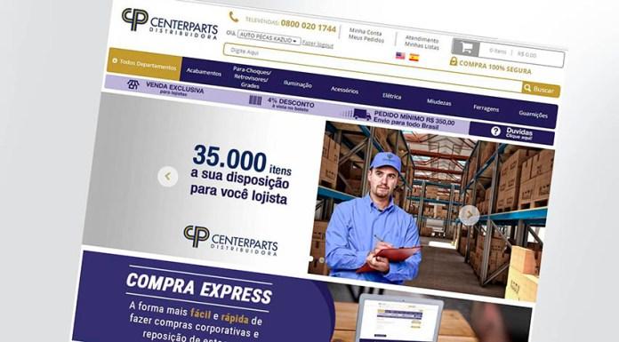 Centerparts lança E-commerce, estoque de produtos, B2B, lojista