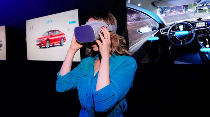 digital marca-Volkswagen-tela touch-óculos-realidade virtual-tablet-concessionária digital-VW-volwagem