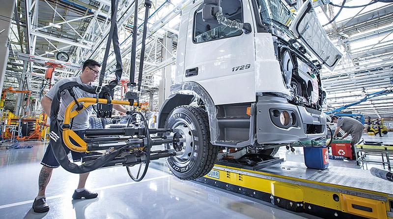 produção de caminhões-Fabricação