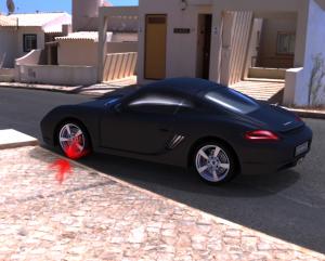 Invenção prometer acabar com danos a rodas,danos nos pneus, carro ilustrativo, criação de projetos, estacionamento